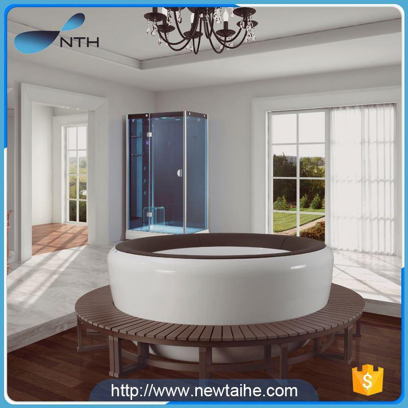 NTH factory supplies simple bathroom led light hydro massage tubs ...
