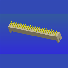 PH2.0mm间距单排T1曲针