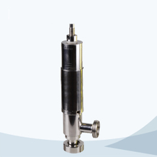 Sanitary line type pressure safety valve with scale
