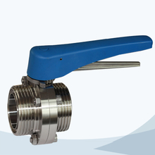 Sanitary male-male threading butterfly valve