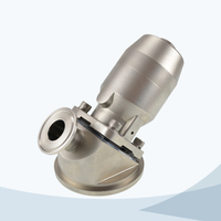 stainless steel food grade pneumatic tank bottom diaphragm valve