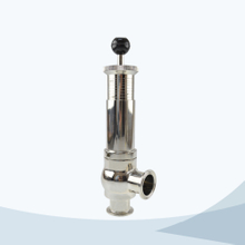 Sanitary food processing line type pressure safety valve with scale