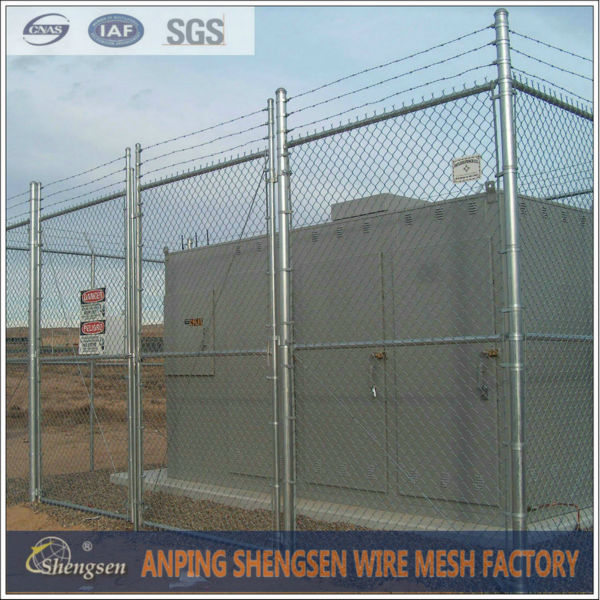 50*50mm Mesh hole Galvanized Chain Link Fence - Hebei Shengsen Metal ...