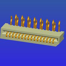 1.0mm间距B型单面接弯针无锁式FPC