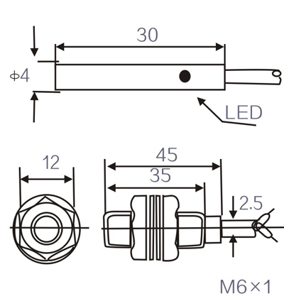 LM4/LM5 M4 M5 Proximity Switch Inductive Sensor