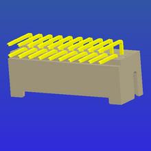 PH2.0mm间距单排加厚带扣T2弯针