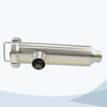 Sanitary welded angle type filter strainer