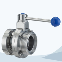 Sanitary union-male butterfly valve
