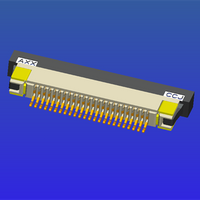 0.5mm间距半包下接抽屉式FPC