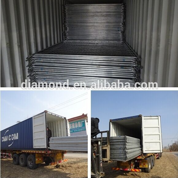 Temporary fence packing & shiping