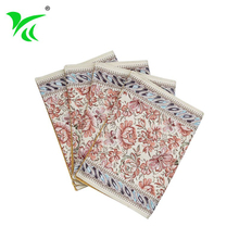 Customized Colorful woven tapestry cotton fabric table placemat
