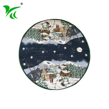 China Manufacturers Supplier blue and green cool christmas tree skirt
