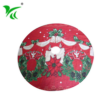 Eco-friendly Christmas decoration red and green christmas tree skirt