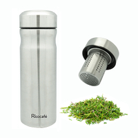 Travel Stainless Steel Vacuum Auto Mug With Strainer