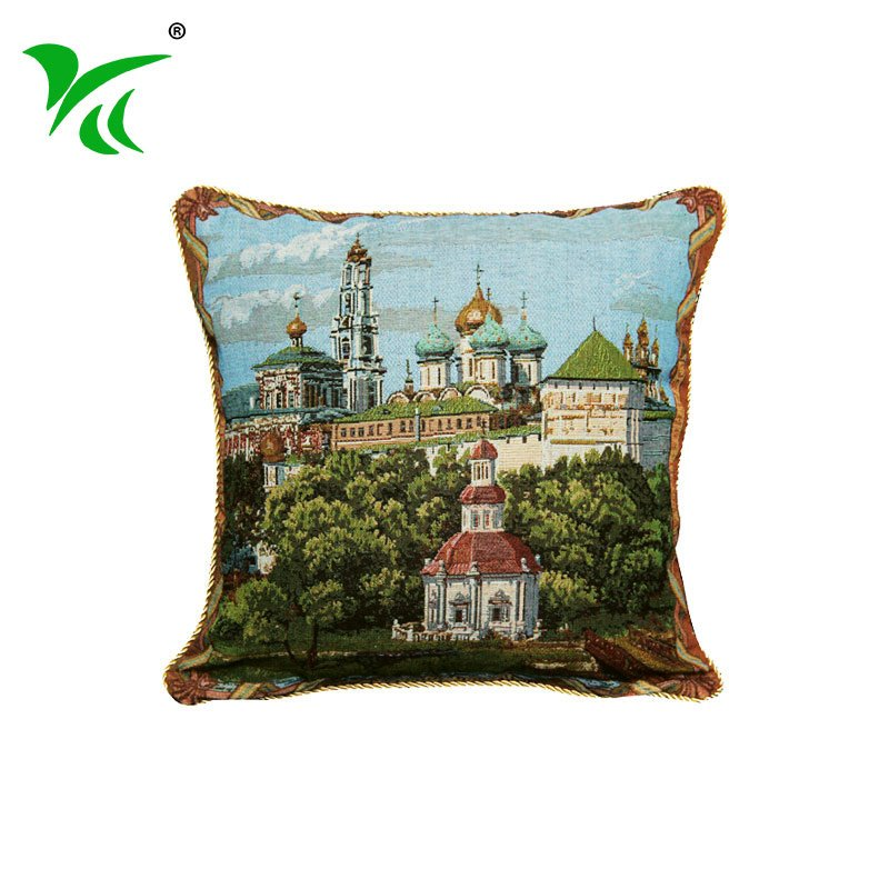 Variety of colorful styles big jacquard woven cushions for sale