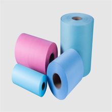 colorful heavy machine non woven fabric wash cloth
