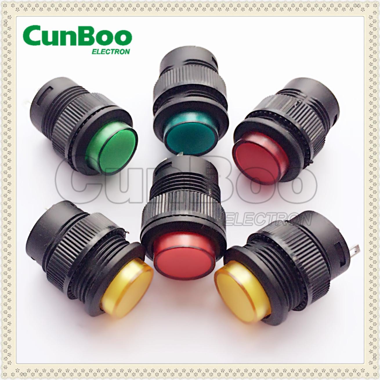 Illuminated round push button switch