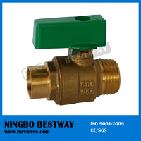Male Pn 40 Brass Ball Valve with short handle