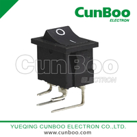 KCD1-203 rocker switch with clubfoot
