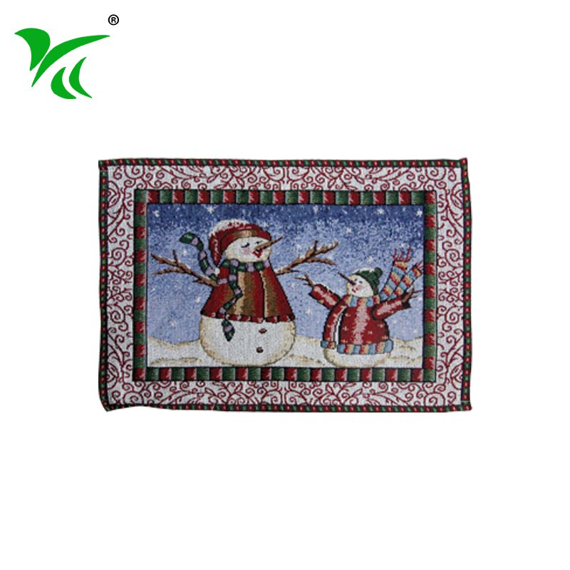 China Square Home Decor tapestry woven christmas cloth placemat
