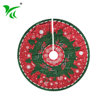 Custominzed big inexpensive Cotton Polyester christmas tree skirts