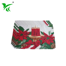 Eco-friendly colorful tapestry woven table placemat for kids
