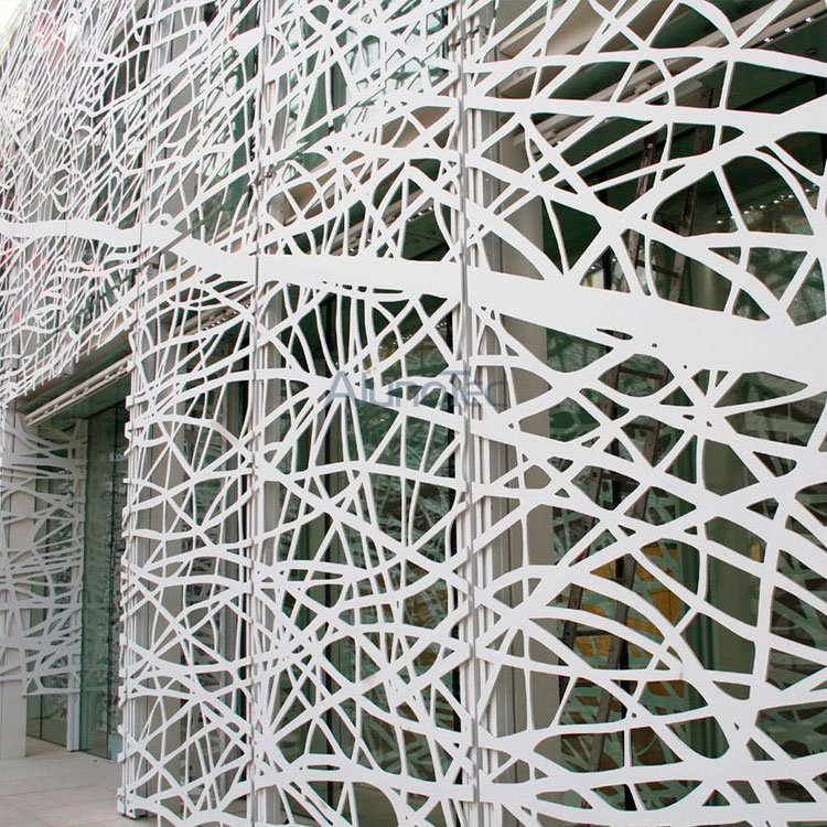Ornamental Metal Panel Cladding Us : Modern decorative wall panel design dividers metal facade