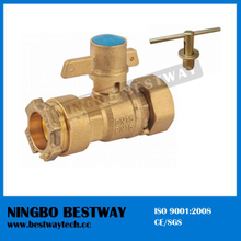 Forged Brass Water Meter Valve with Lock (BW-L02)