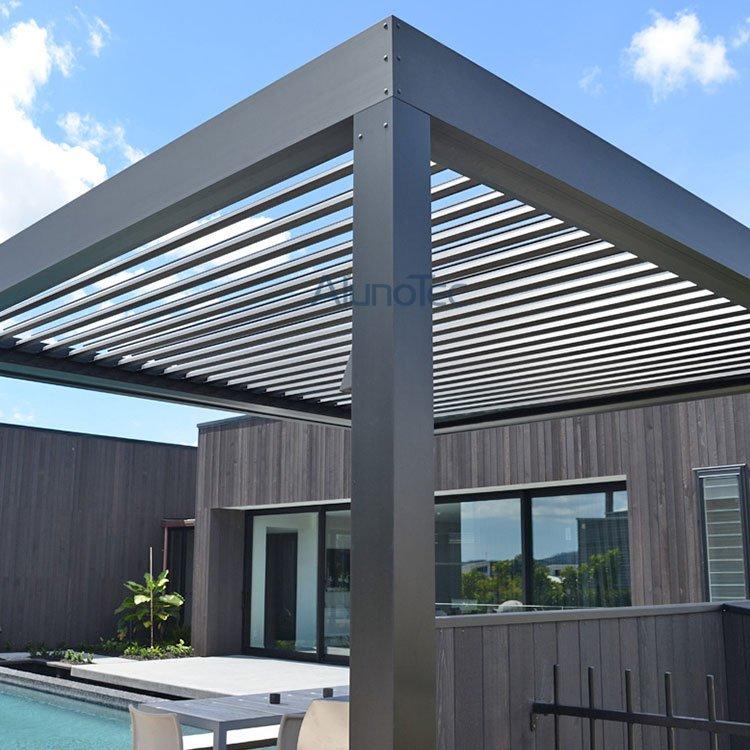 Manual Operation Aluminum Louver Pergola Cover For Balcony