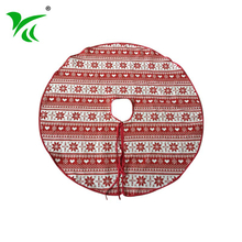 Wholesale customize Polyester colorful tartan christmas tree skirt