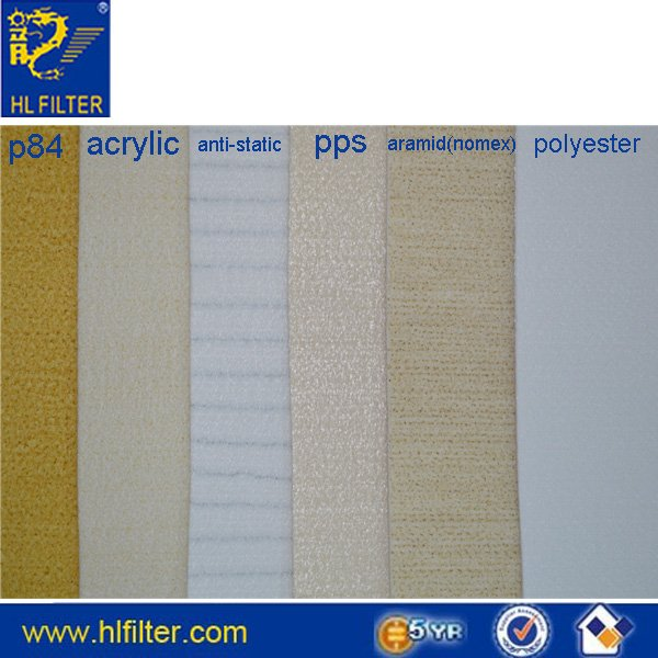 polyester stripe anti-static needle felt with water and oil proof