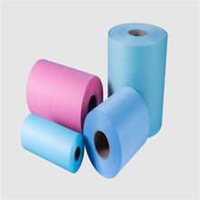 cleaning wipe industrial household use woodpulp spunlace material rolls