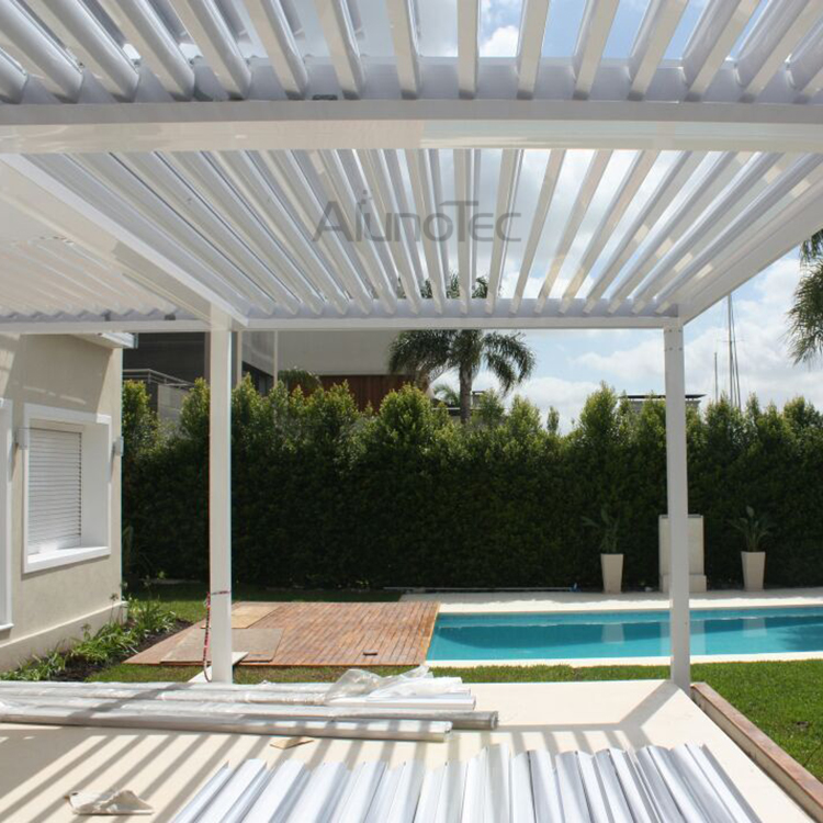 Aluminum Outdoor Pergola Covers Attached To House With