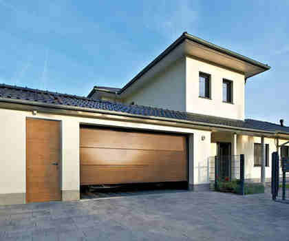 Sectional Remote Control Garage Door