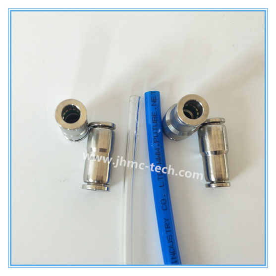 Push-in union pneumatic fittings