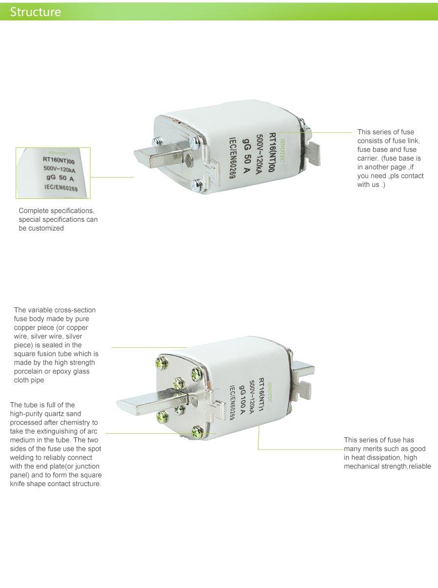 Rt16 Nt Electrical Ceramic Fuse 100 Amp Circuit Breaker Buy Box 200 Porcelain 01 02