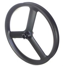 26er Fat Bike Carbon Fiber Tri Spoke Wheels 65mm Width