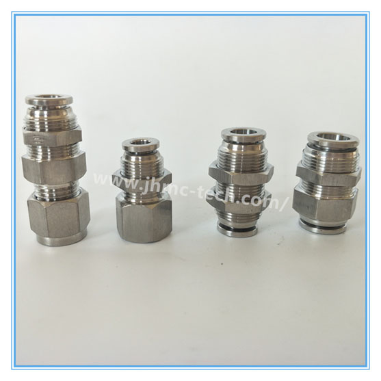 Push-in Bulkhead pneumatic fittings