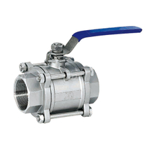 Stainless Steel Hygienic 3 Piece Pipeline Ball Valves