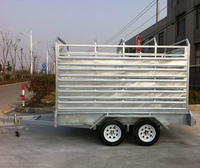 Professional hot-dipped animal panel trailer caravan