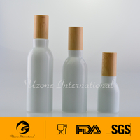 White opaque glass bottle