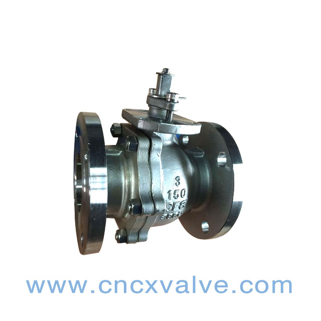 2PC Body Flanged Floating Ball Valve