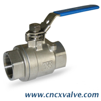 2PC full bore ss316 Ball Valve 1000WOG