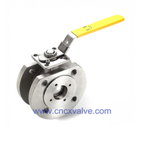 Oblea Type Ball Valve con Direct Mounting Pad