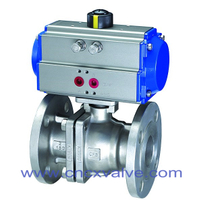2PC Ball Valve Flanged End With Mounting Pad