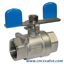 2pc Stainless Steel Ball Valve Threaded with Butterfly Lever