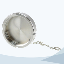 Sanitary blind nut with chain