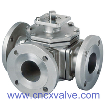 3PC Body Floating Type Balll Valve with Direct Pad