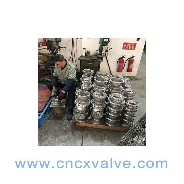 CX VALVE-iso5211 high mounting ball valve on polishing