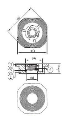 Válvulas de verificación por resorte del disco